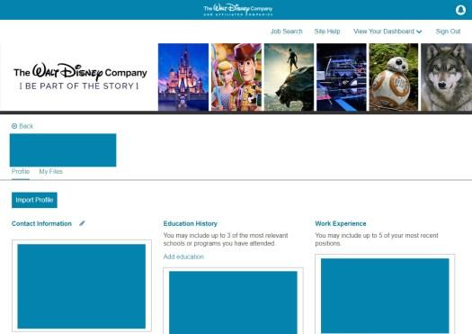 Disney Career Job Portal