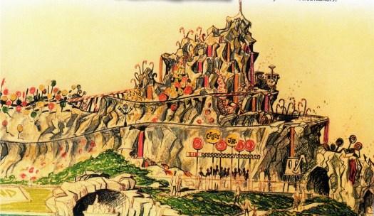 Der nie errichtete Rock Candy Mountain in Fantasyland