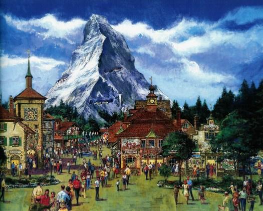 Epcots Schweiz mit dem Matterhorn im Hintergrund
