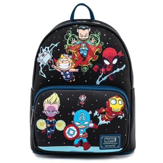 Loungefly Marvel Skottie Young Chibi Group Mini Backpack by Funko