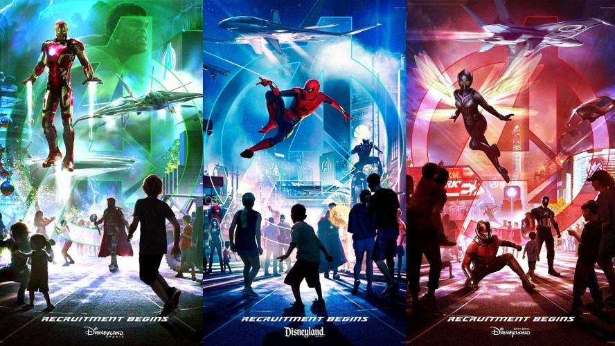 Avengers Campus international posters