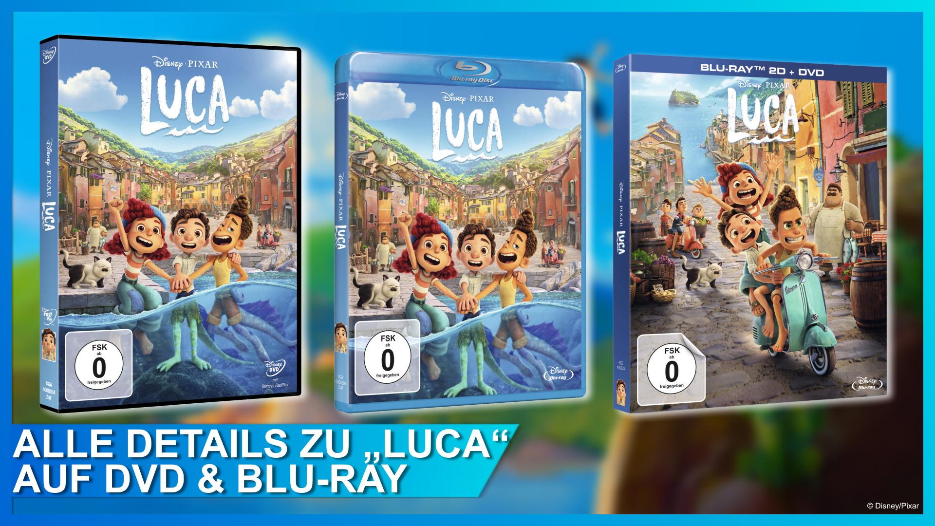 Pixars Luca auf DVD und Blu-ray
