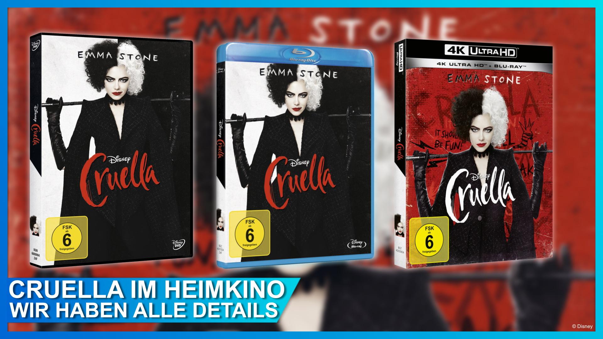 Cruella 4K Ultra HD Blu-ray DVD Disney+