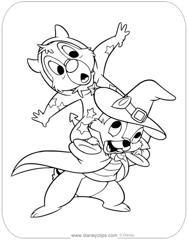 12 Disney Halloween Coloring Page ideas in 12  disney