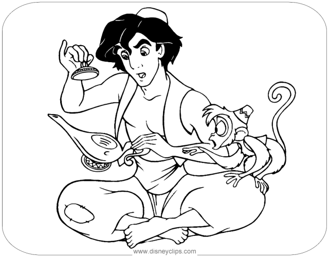 Aladdin Coloring Pages  Disneyclips.com