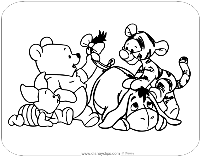 Baby Pooh Coloring Pages  Disneyclips.com