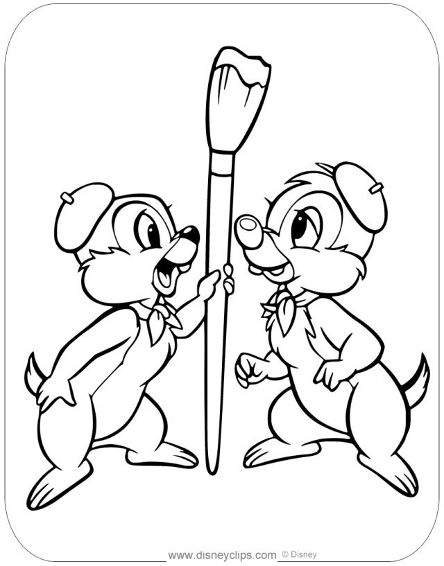 Chip and Dale Coloring Pages (13)  Disneyclips.com