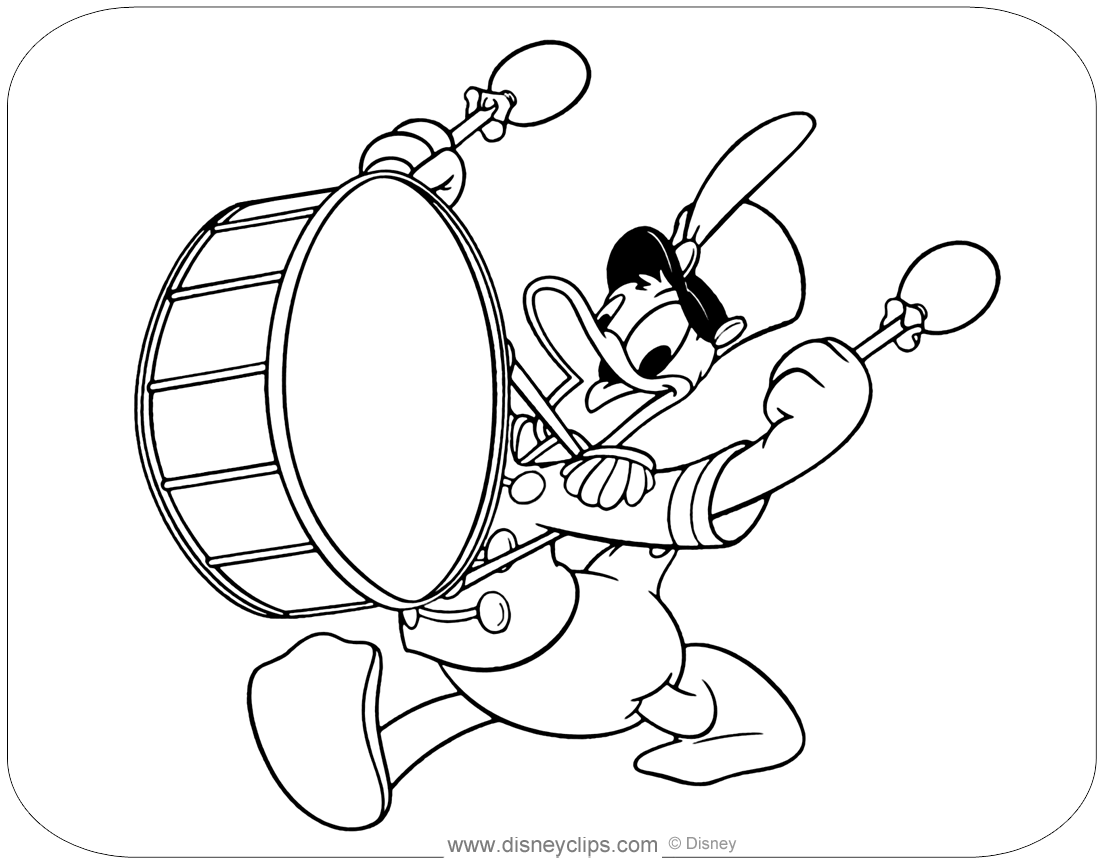 Donald Duck Coloring Pages
