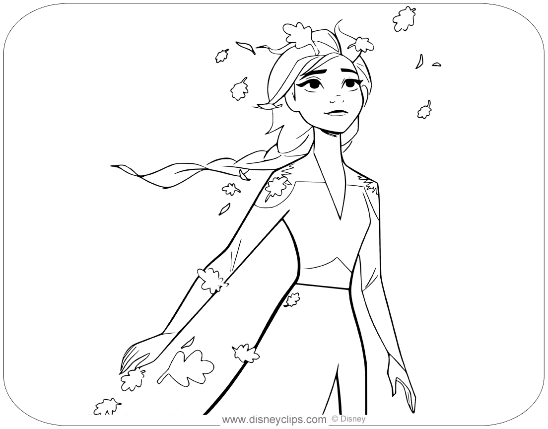 Frozen 2 Characters Coloring Pages