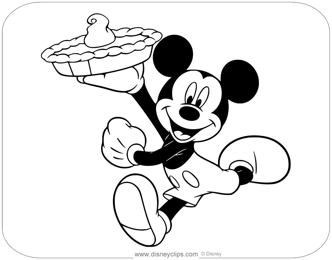 Mickey Mouse Special Events Coloring Pages
