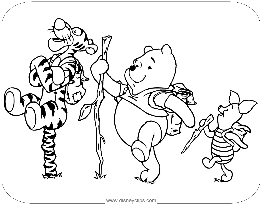 Winnie The Pooh Mixed Group Coloring Pages