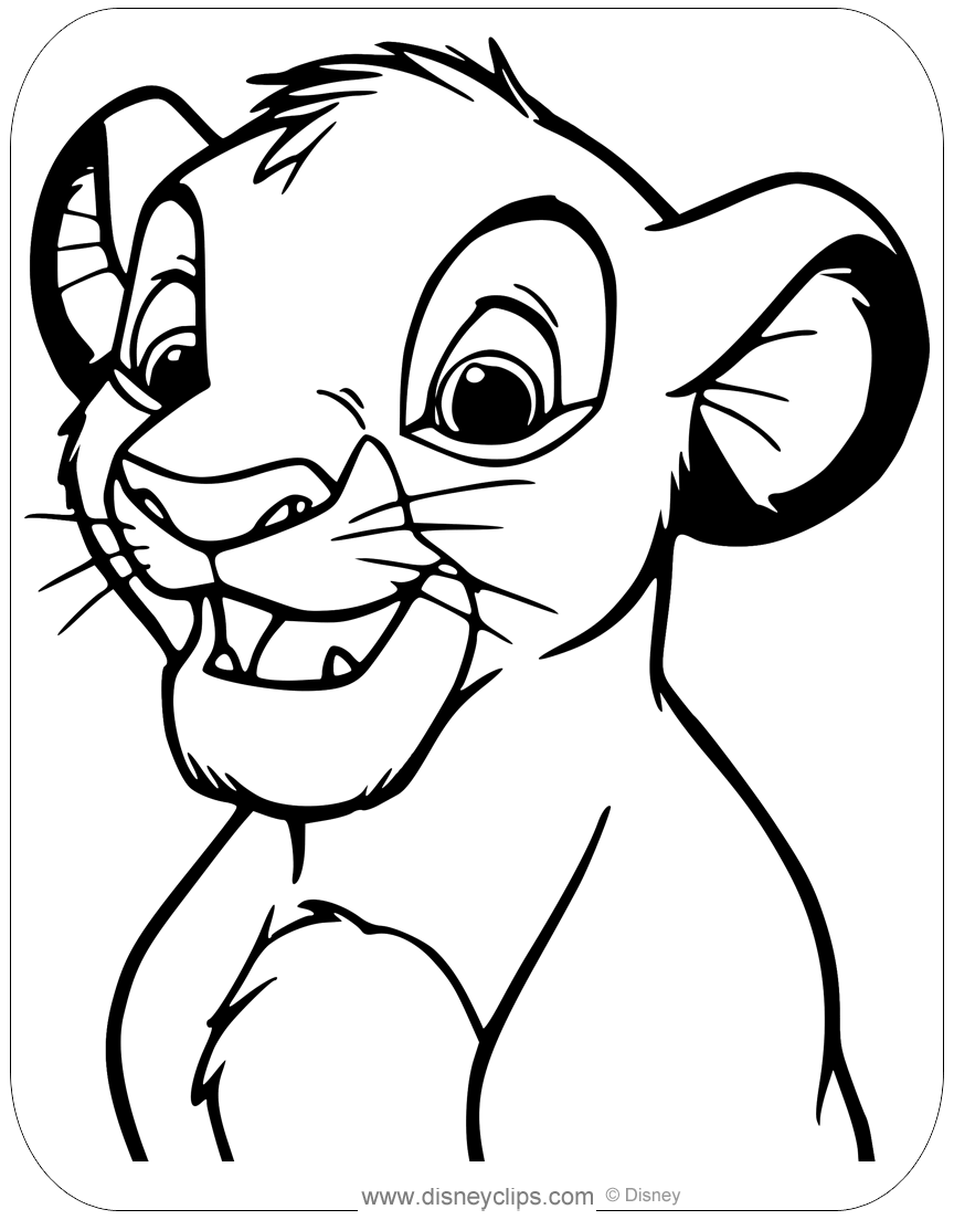 Baby Simba Lion King Coloring Pages - Free Coloring Page