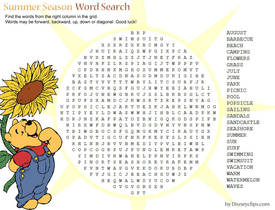 Printable Disney Word Search Games 2 Disneyclipscamping Activities