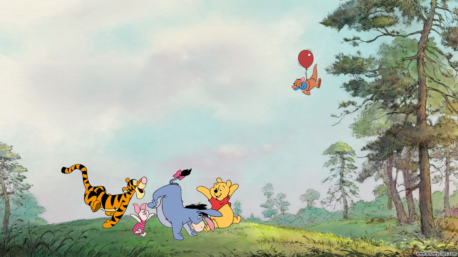 Winnie The Pooh Fall Wallpaper Winnie The Pooh And Friends Wallpaper Disneyclips Com