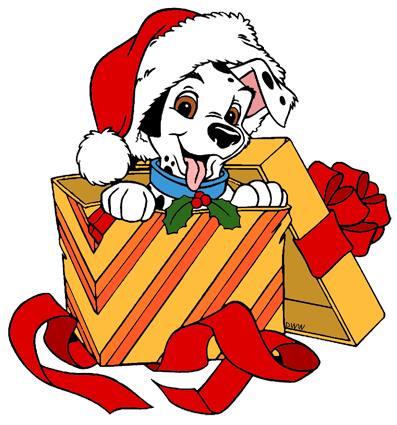 dalmatians christmas clip art