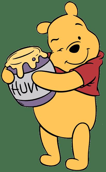Cartoons Winnie Pooh Holding Honey Pot