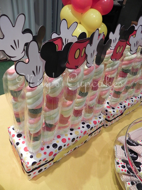 Disney Mickey Mouse Themed Birthday Party Dessert Table