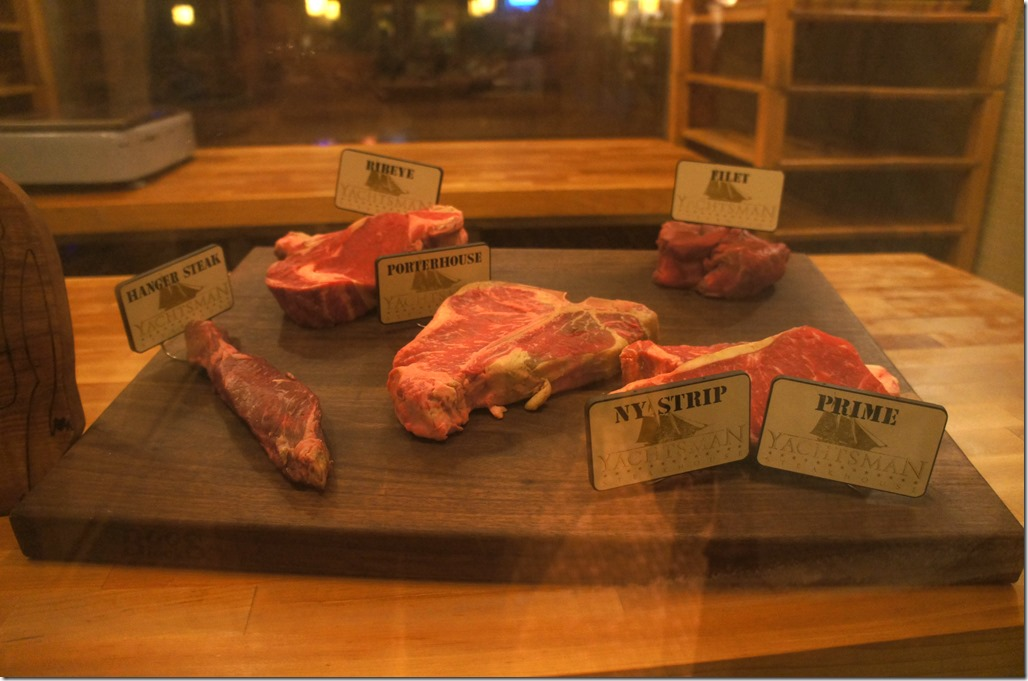 round glass kitchen tables storage cabinets review of the yachtsman steakhouse in disney's yacht club ...