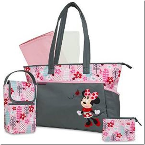Disney Discovery Minnie Mouse 5 In 1 Diaper Bag