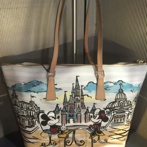 Mickey and Minnie at the Castle Tote