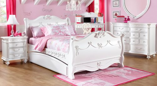 br_rm_princessSleigh_new-Disney-Princess-White-5-Pc-Twin-Sleigh-Bedroom