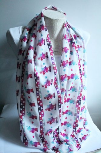Long Minnie and Mickey Infinity Scarf
