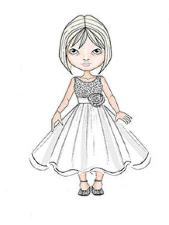 alfred-angelo-flower-girl-740r-sketch