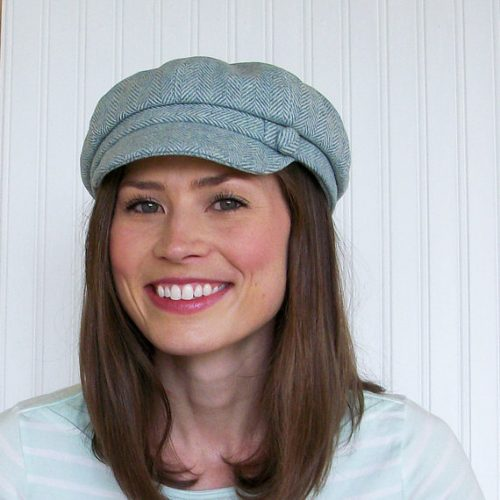 Newsboy cap blue