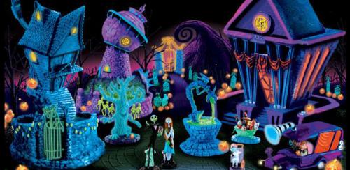 Nightmare Before Christmas Black Light Village