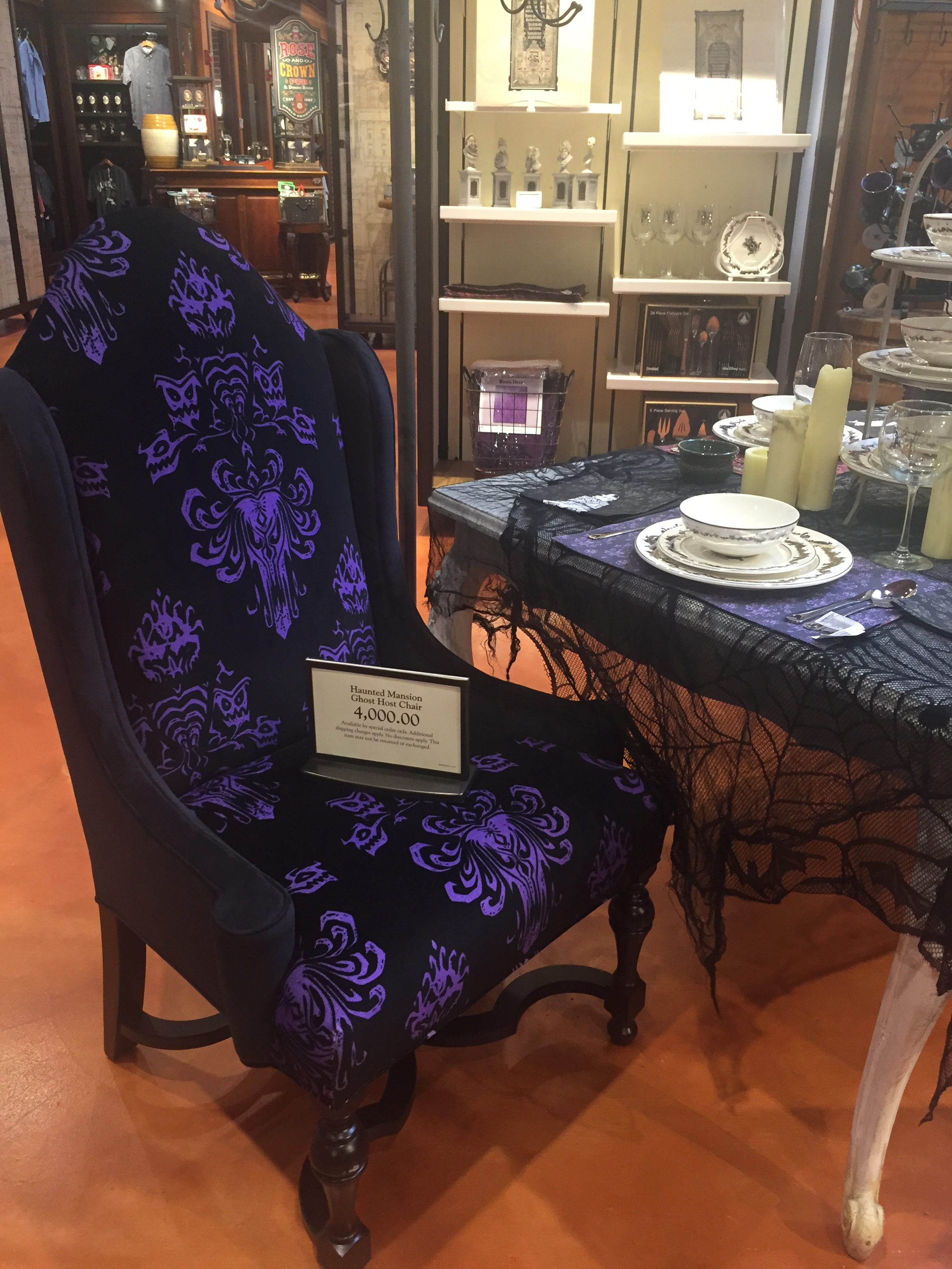 disney princess chair covers rental ottawa haunted mansion decor available at springs