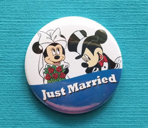 Just Married Disney Button