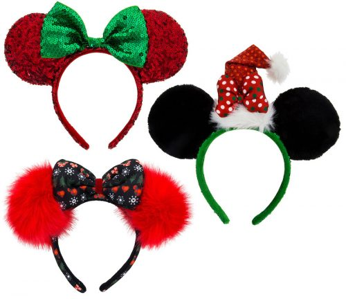 343d62cd Guests will also find a new sequined ear hat with silver ears, polka dots,  and a giant red bow. And as another bonus, two Mickey and Minnie inspired  ...