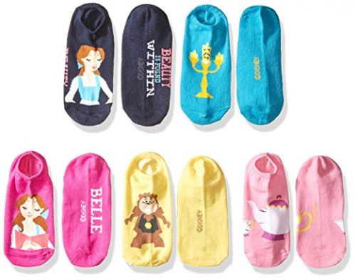 9b815877f253 Disney Discovery- 5-Pack Beauty   the Beast no-show socks