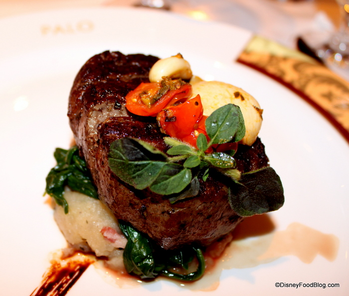 Palo's signature tenderloin served with red wine or gorgonzola sauce (or both!)
