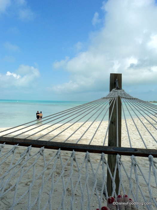 The peaceful scene at the adults-only Serenity Bay at Disney's Castaway Cay