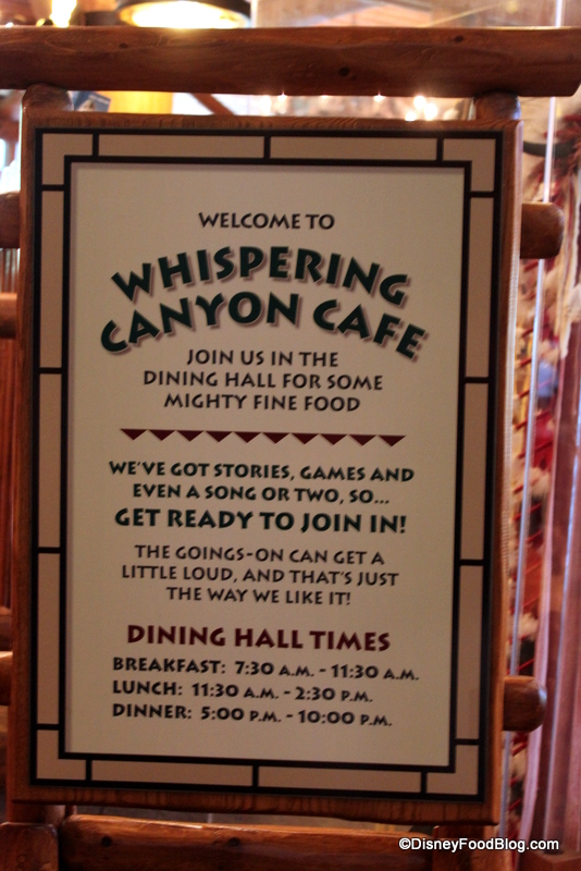 Review Dinner at Whispering Canyon Cafe in Disneys