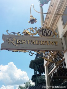 Menu Items Plaza Restaurant In Disney