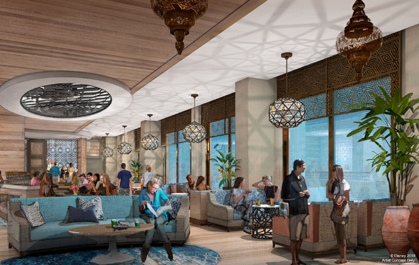 Concept Art for Concierge ClubLevel Lounge and More