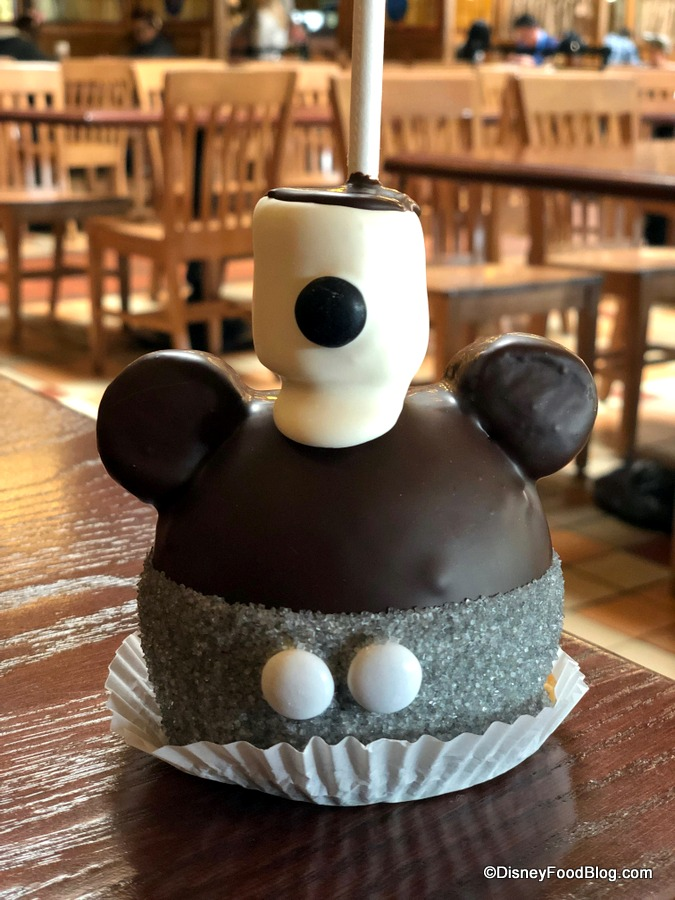 Get Your Ears On EATS Steamboat Willie Caramel Apple in