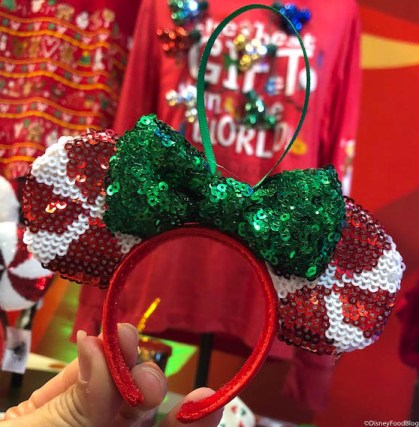 Image result for peppermint minnie ears ornament""