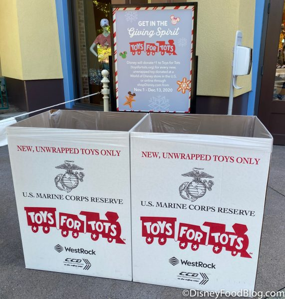 Disneyland 2020 World of Disney Toys for Tots Christmas Donation