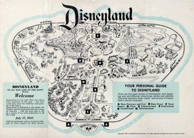 Disneyland 1955 Map