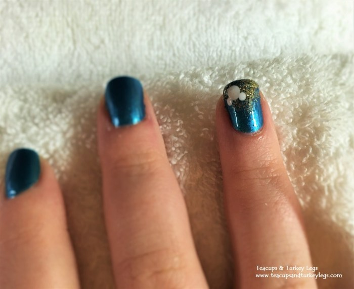 Mickey with Fireworks Nails at Senses - A Disney Spa at Disney's Grand Floridian Resort & Spa
