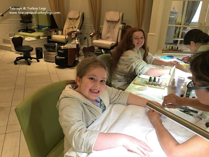 Getting their nail painted at Senses - A Disney Spa at Disney's Grand Floridian Resort & Spa
