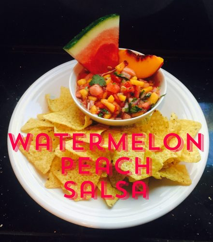 Our easy Watermelon Peach Salsa.