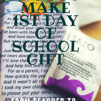First-Day-Of-School Teacher To Parent Gift