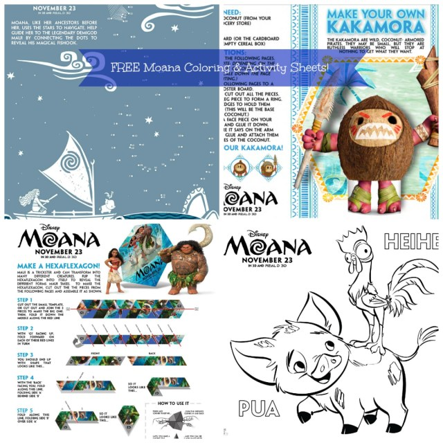 FREE Coloring Activity Pages From Disneys Moana