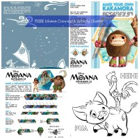 Moana-Coloring-Activity Pages