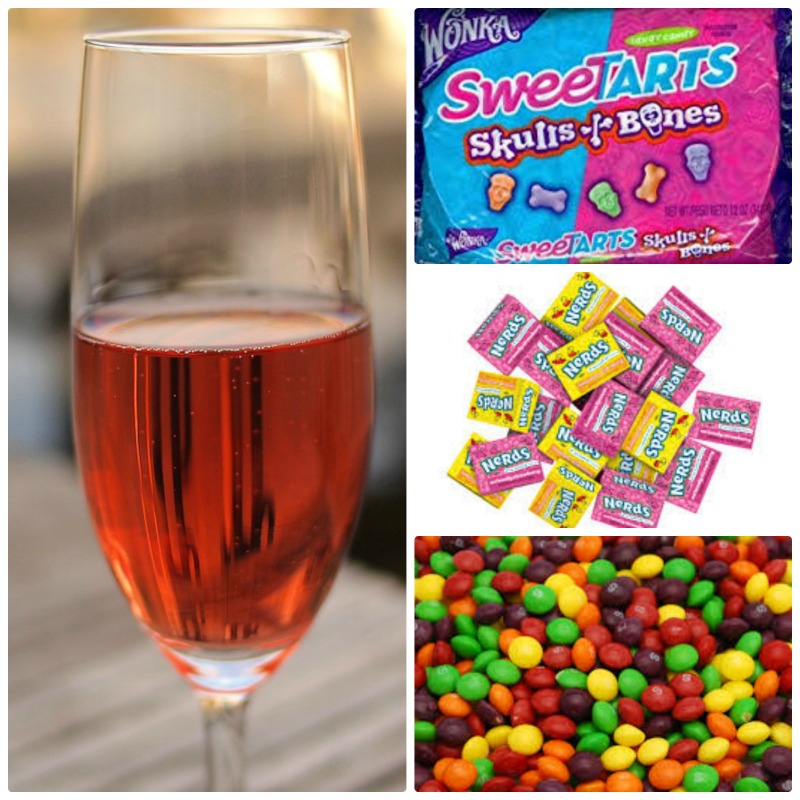 Wine and Halloween Candy Pairing Rose'