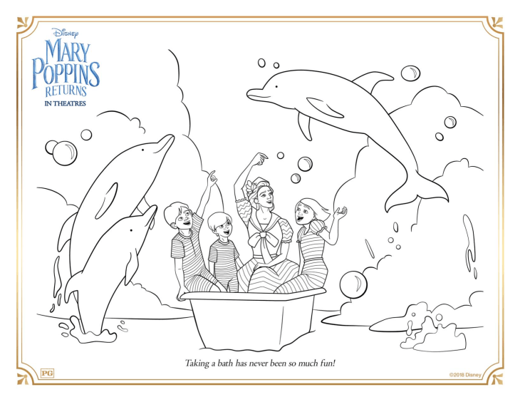 Download These FREE Mary Poppins Returns Coloring Pages & Activity ...